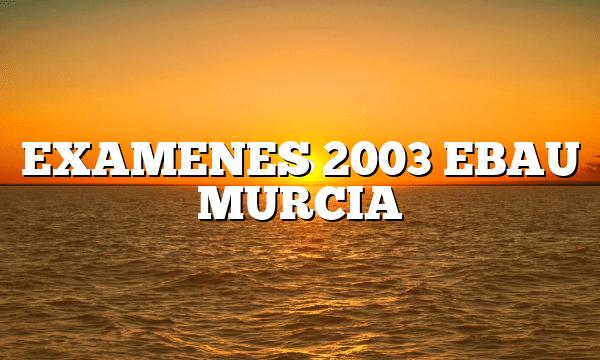 EXAMENES 2003 EBAU MURCIA