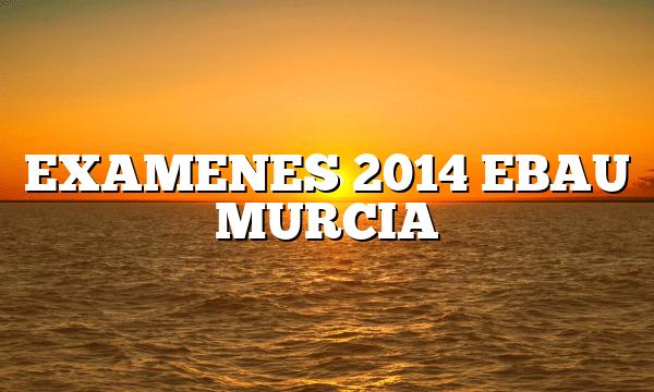 EXAMENES 2014 EBAU MURCIA