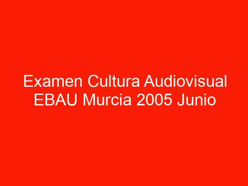 examen cultura audiovisual ebau murcia 2005 junio 4593