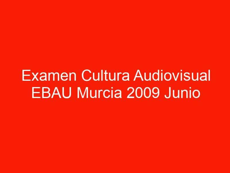 examen cultura audiovisual ebau murcia 2009 junio 4601