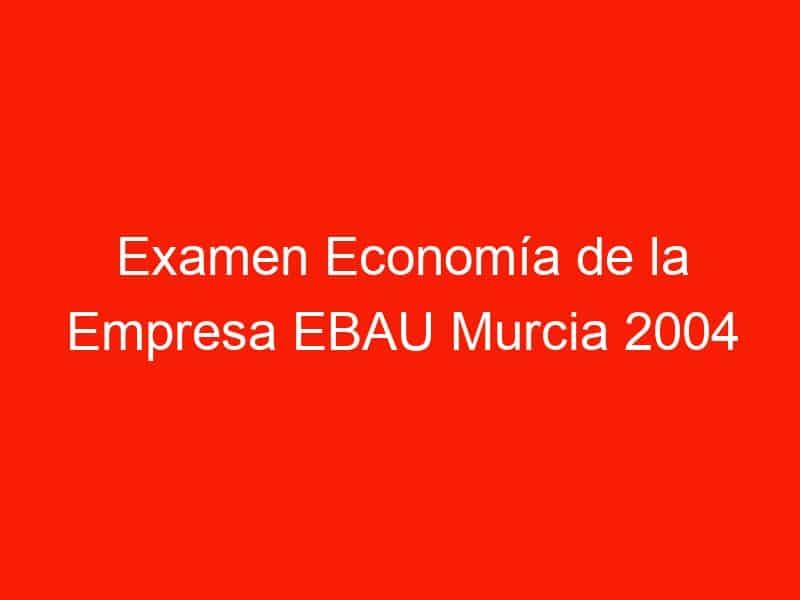 examen economia de la empresa ebau murcia 2004 junio 4211
