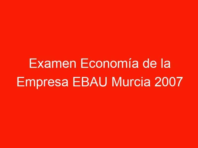 examen economia de la empresa ebau murcia 2007 septiembre 4255