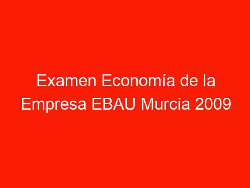 examen economia de la empresa ebau murcia 2009 junio 4221