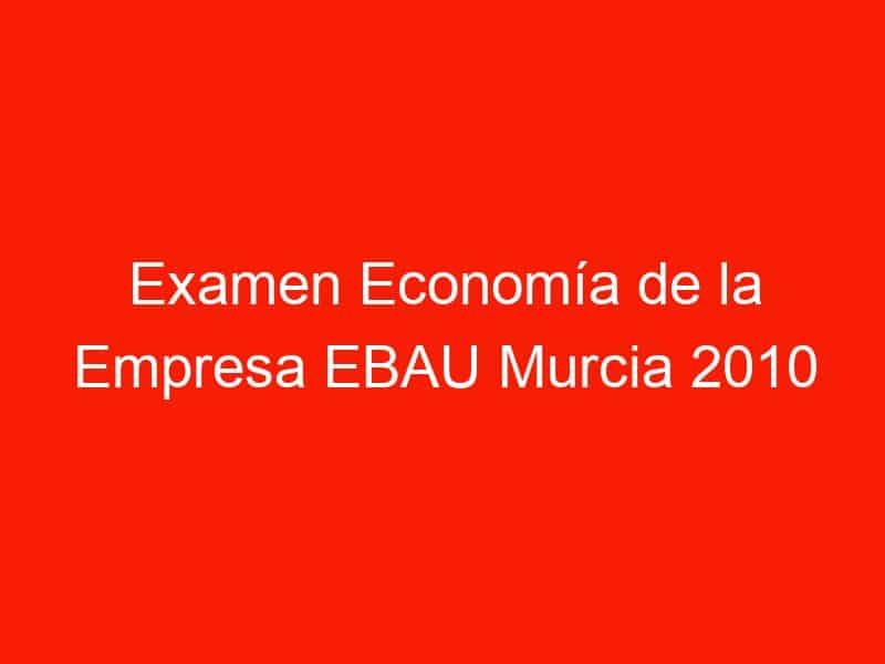 examen economia de la empresa ebau murcia 2010 junio 4223