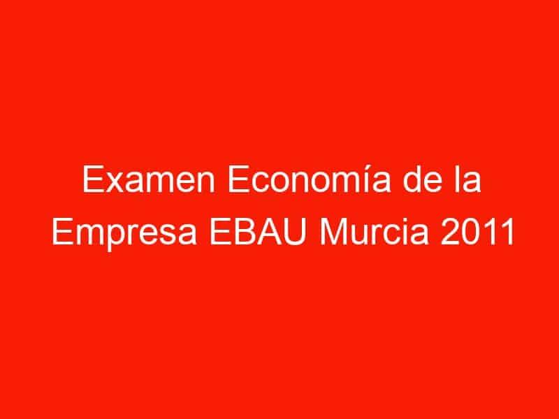 examen economia de la empresa ebau murcia 2011 junio 4225