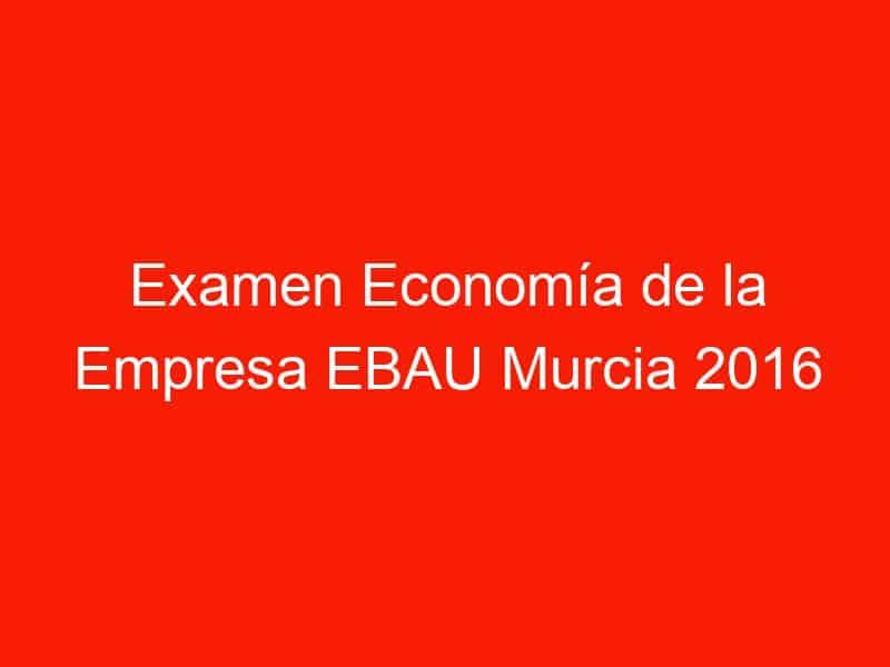 examen economia de la empresa ebau murcia 2016 junio 4235