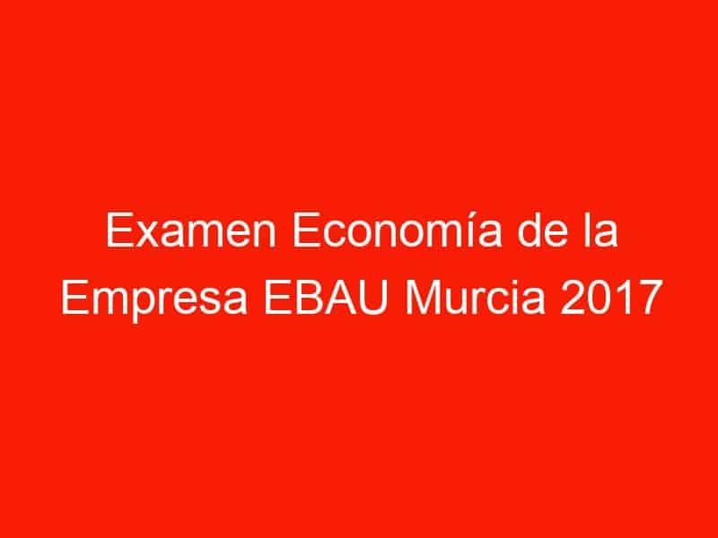 examen economia de la empresa ebau murcia 2017 junio 4237