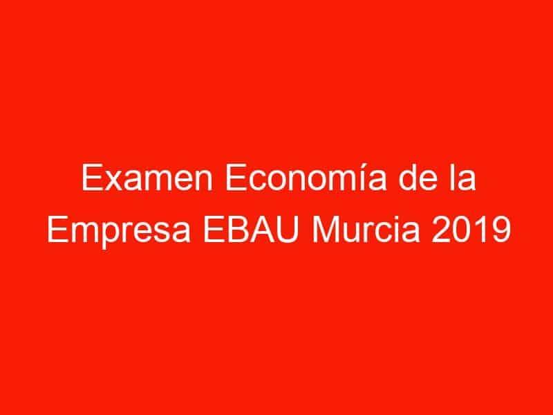 examen economia de la empresa ebau murcia 2019 junio 4241
