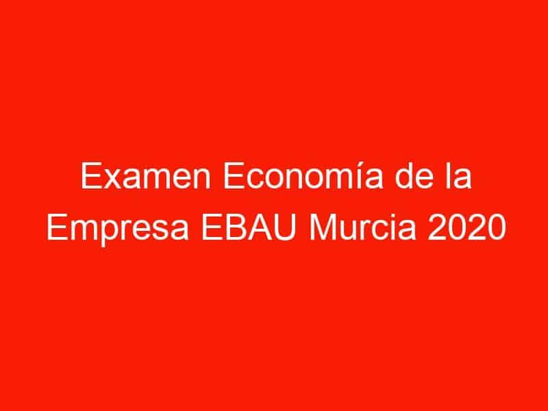 examen economia de la empresa ebau murcia 2020 junio 4243