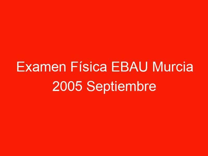 examen fisica ebau murcia 2005 septiembre 3871