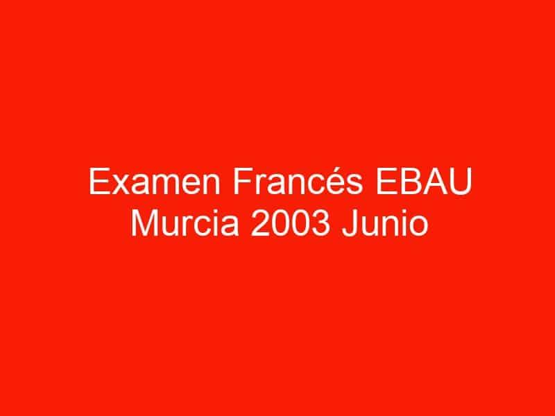 examen frances ebau murcia 2003 junio 3981