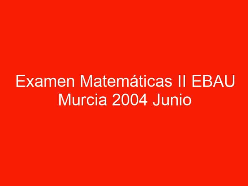 examen matematicas ii ebau murcia 2004 junio 3527