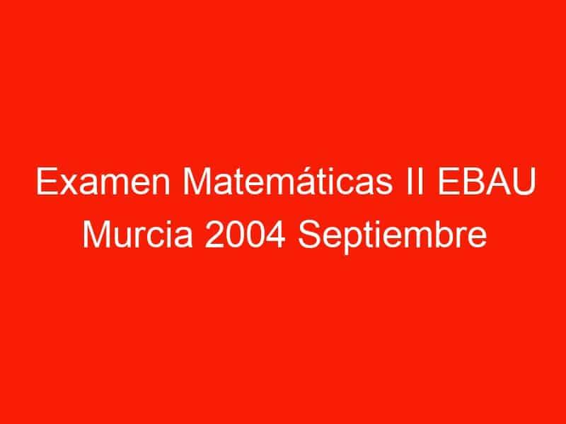 examen matematicas ii ebau murcia 2004 septiembre 3565