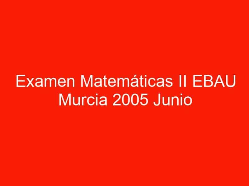 examen matematicas ii ebau murcia 2005 junio 3529