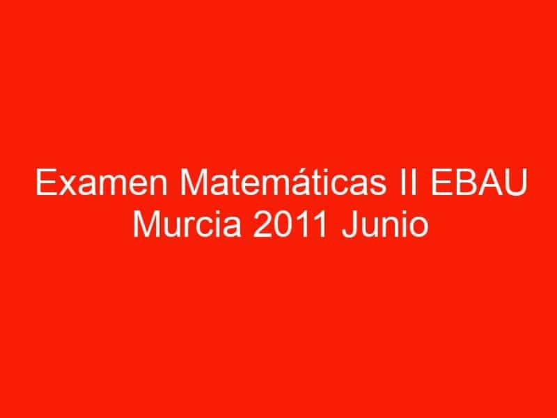 examen matematicas ii ebau murcia 2011 junio 3541