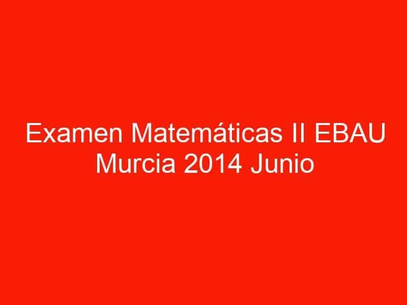 examen matematicas ii ebau murcia 2014 junio 3547